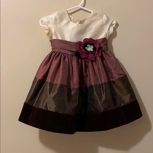 Girls 6/9 month Bonnie Baby Dress brown & purple's